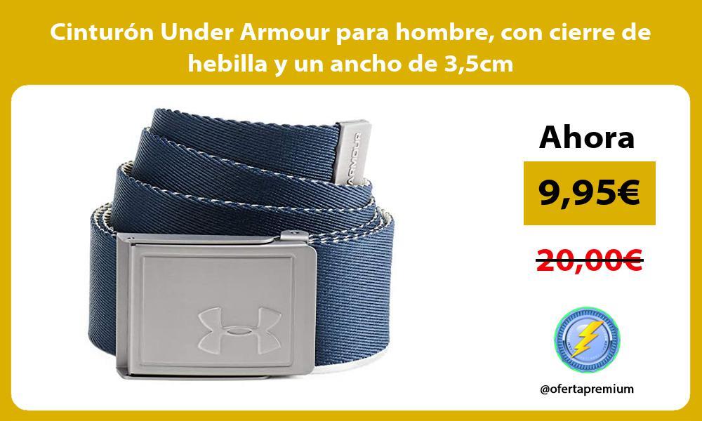 Cinturón Under Armour para hombre con cierre de hebilla y un ancho de 35cm