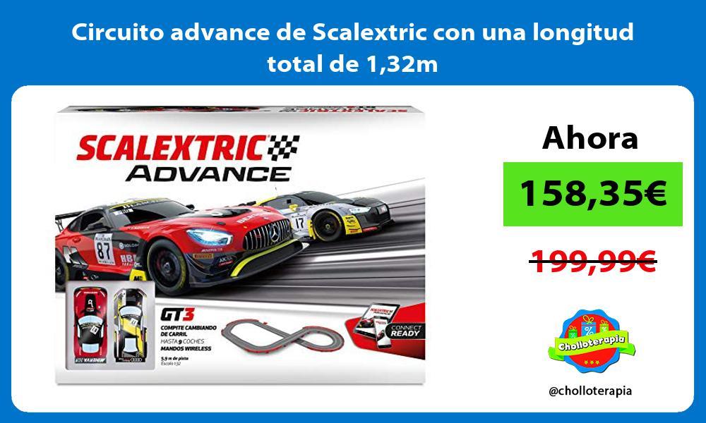 Circuito advance de Scalextric con una longitud total de 132m