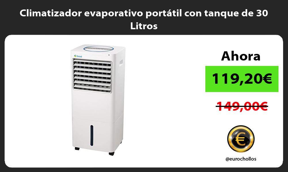 Climatizador evaporativo portátil con tanque de 30 Litros