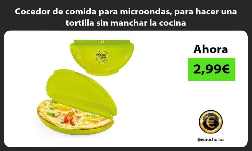 Cocedor de comida para microondas para hacer una tortilla sin manchar la cocina