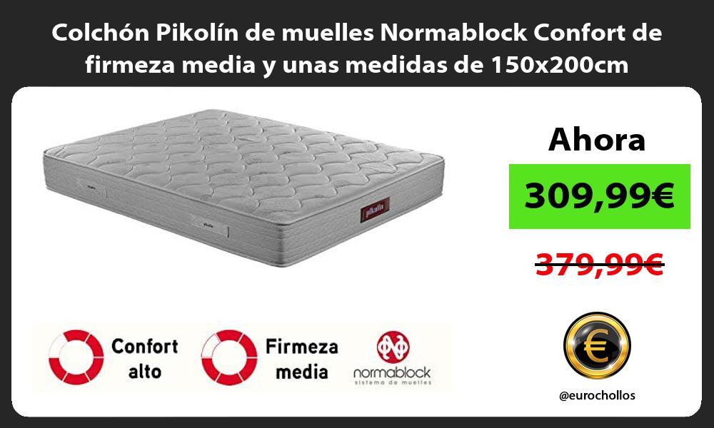 Colchón Pikolín de muelles Normablock Confort de firmeza media y unas medidas de 150x200cm