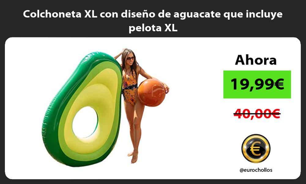 Colchoneta XL con diseño de aguacate que incluye pelota XL