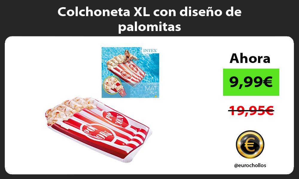 Colchoneta XL con diseño de palomitas