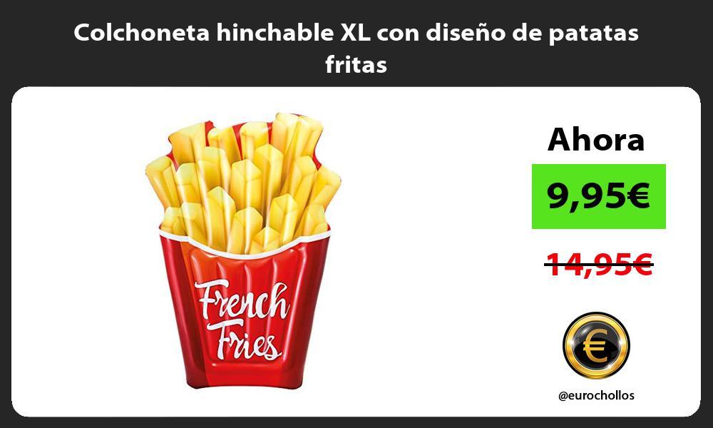 Colchoneta hinchable XL con diseño de patatas fritas