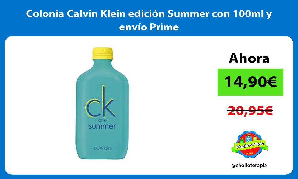 Colonia Calvin Klein edición Summer con 100ml y envío Prime