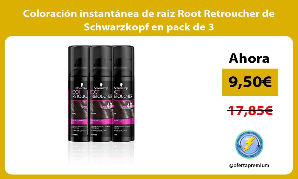 Coloración instantánea de raiz Root Retroucher de Schwarzkopf en pack de 3