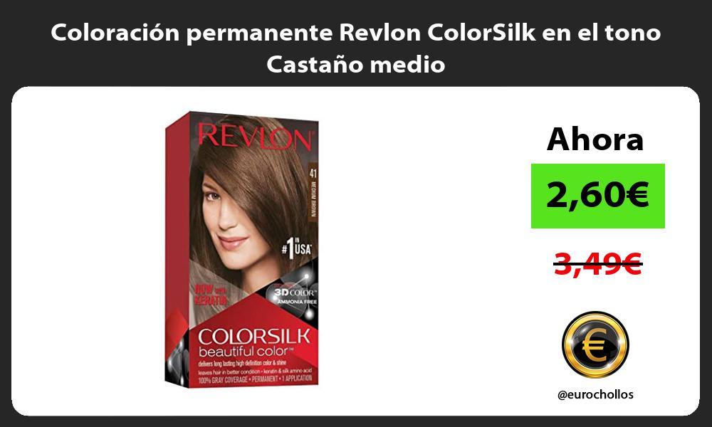 Coloración permanente Revlon ColorSilk en el tono Castaño medio