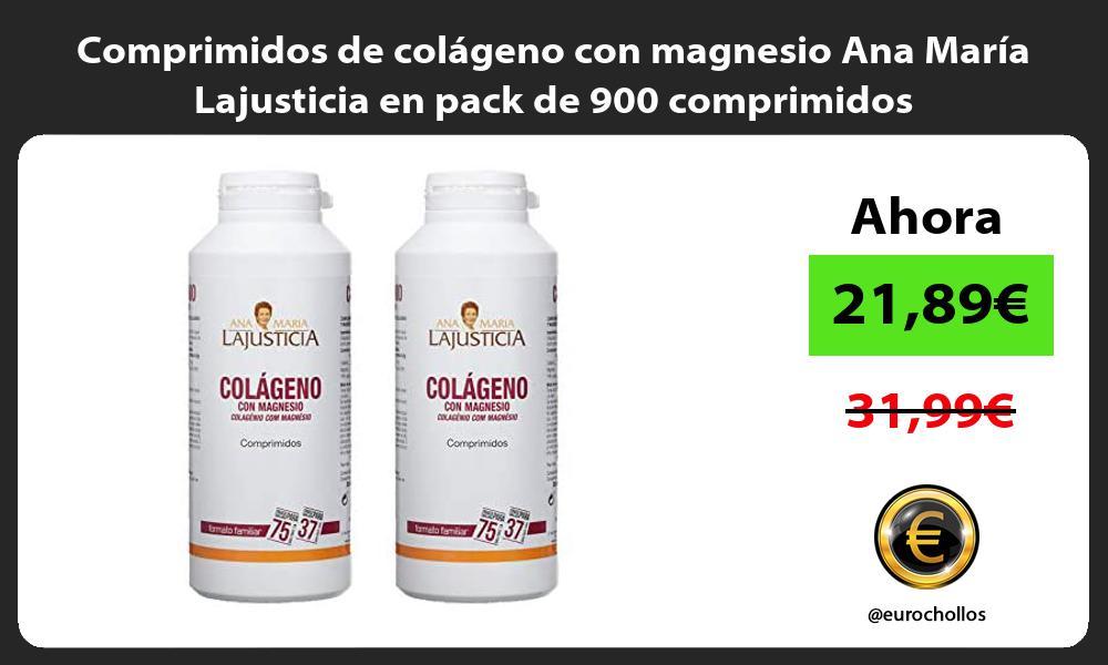 Comprimidos de colágeno con magnesio Ana María Lajusticia en pack de 900 comprimidos