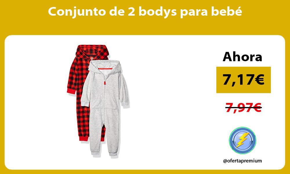 Conjunto de 2 bodys para bebé