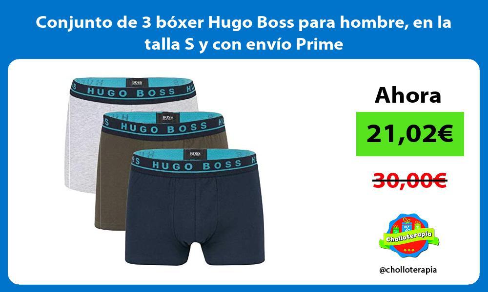 Conjunto de 3 bóxer Hugo Boss para hombre en la talla S y con envío Prime