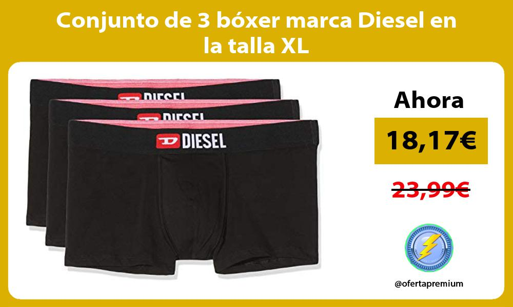 Conjunto de 3 bóxer marca Diesel en la talla XL