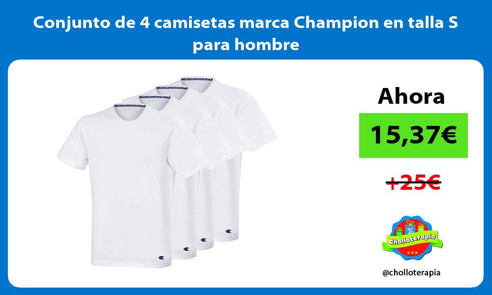 Conjunto de 4 camisetas marca Champion en talla S para hombre