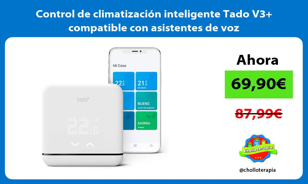 Control de climatización inteligente Tado V3 compatible con asistentes de voz