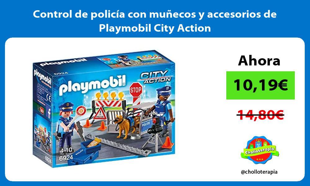 Control de policía con muñecos y accesorios de Playmobil City Action