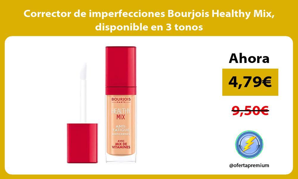Corrector de imperfecciones Bourjois Healthy Mix disponible en 3 tonos
