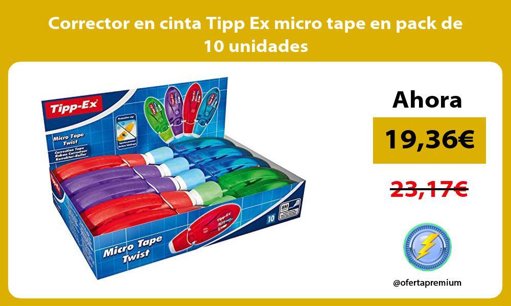 Corrector en cinta Tipp Ex micro tape en pack de 10 unidades