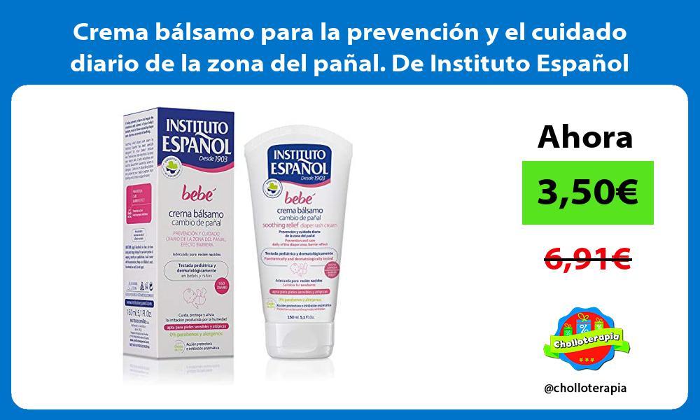 Crema bálsamo para la prevención y el cuidado diario de la zona del pañal De Instituto Español