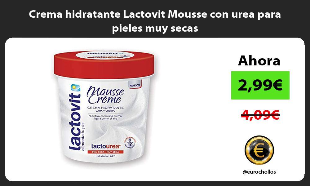 Crema hidratante Lactovit Mousse con urea para pieles muy secas