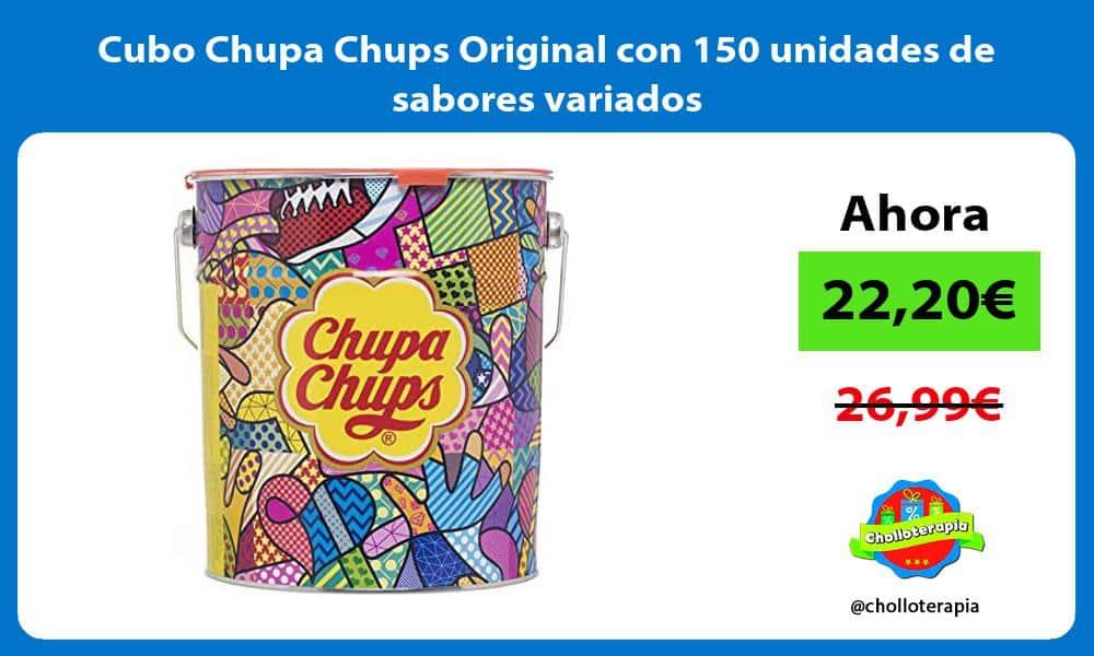 Cubo Chupa Chups Original con 150 unidades de sabores variados