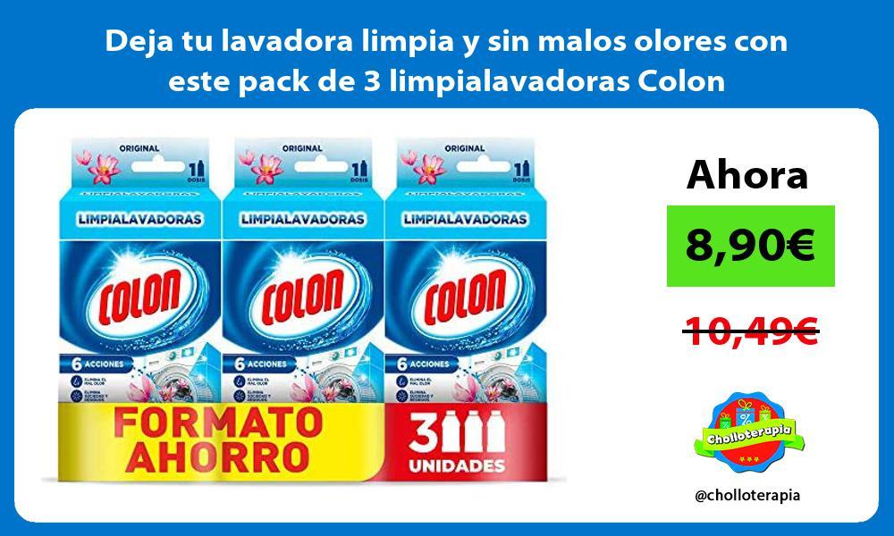 Deja tu lavadora limpia y sin malos olores con este pack de 3 limpialavadoras Colon