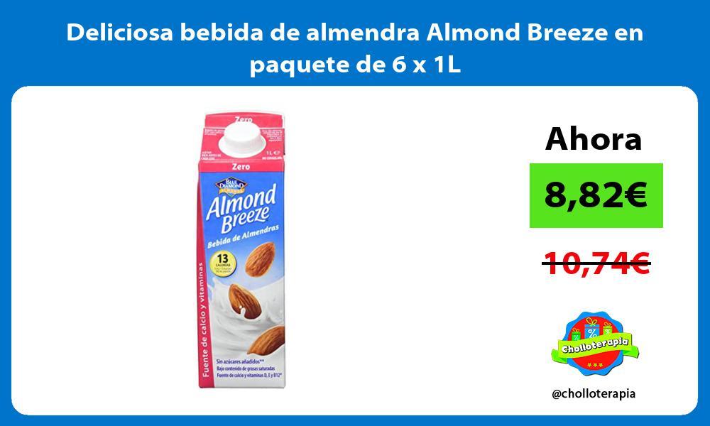 Deliciosa bebida de almendra Almond Breeze en paquete de 6 x 1L