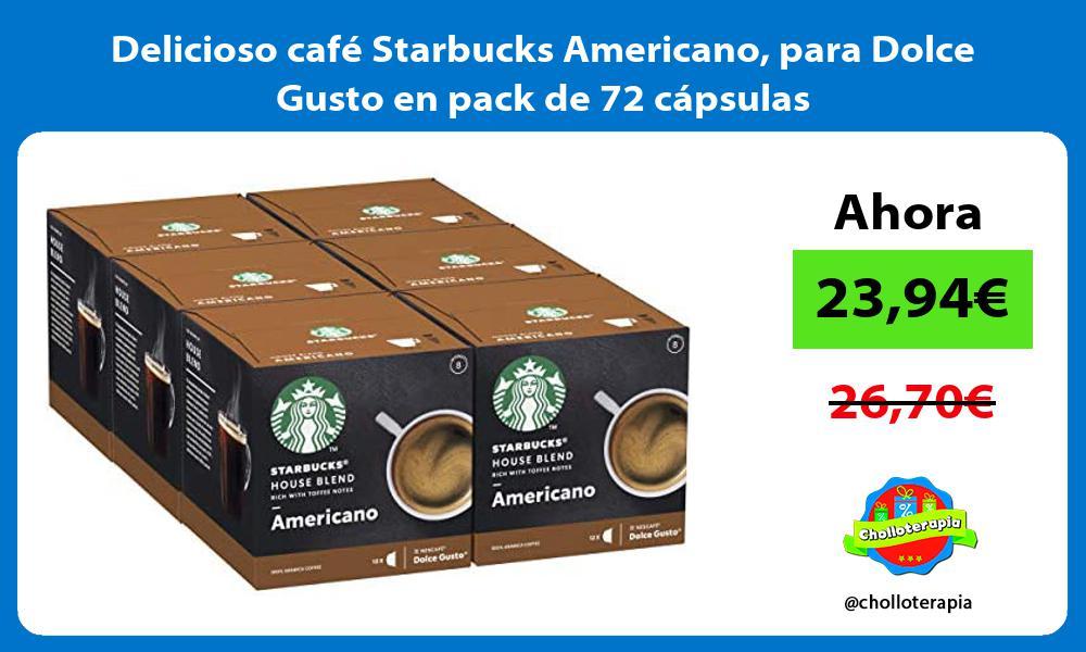 Delicioso café Starbucks Americano para Dolce Gusto en pack de 72 cápsulas