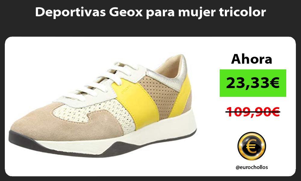 Deportivas Geox para mujer tricolor