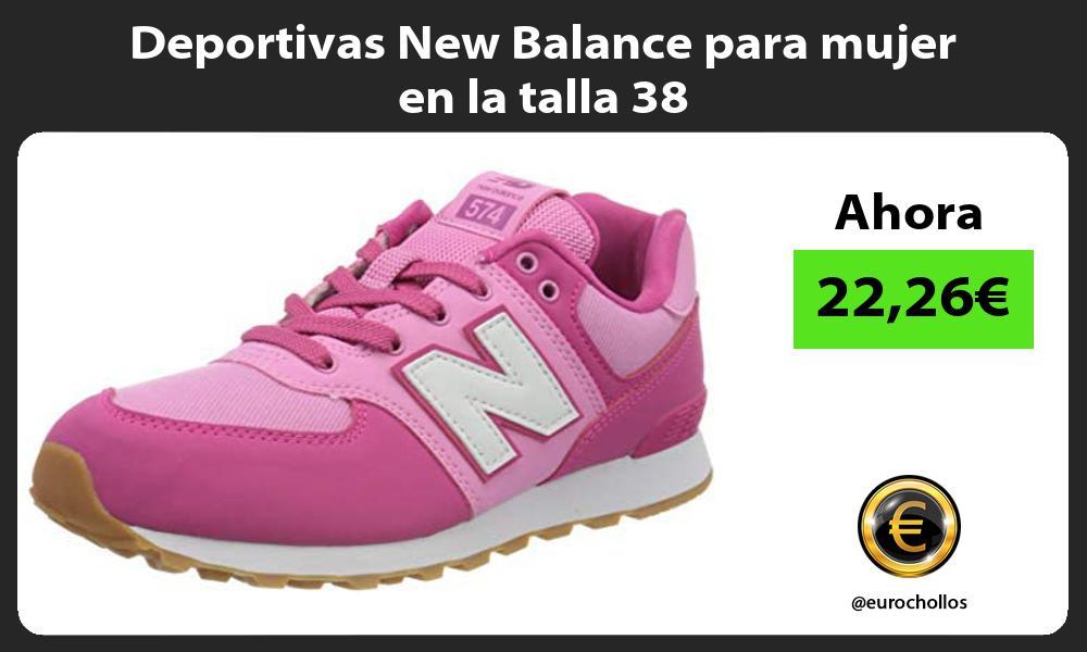Deportivas New Balance para mujer en la talla 38