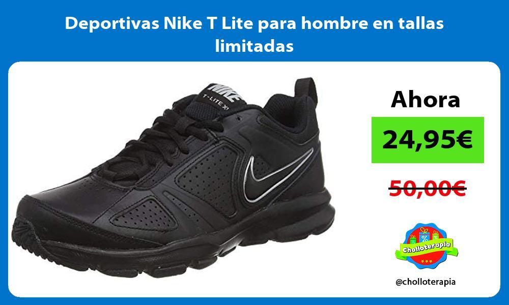 Deportivas Nike T Lite para hombre en tallas limitadas
