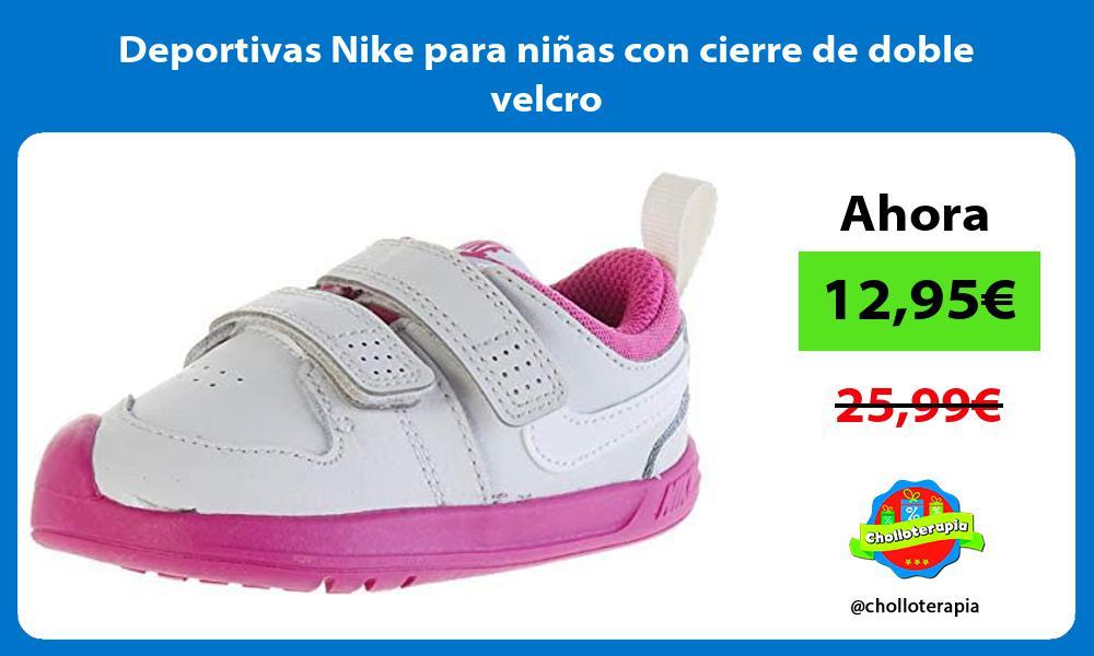Deportivas Nike para niñas con cierre de doble velcro