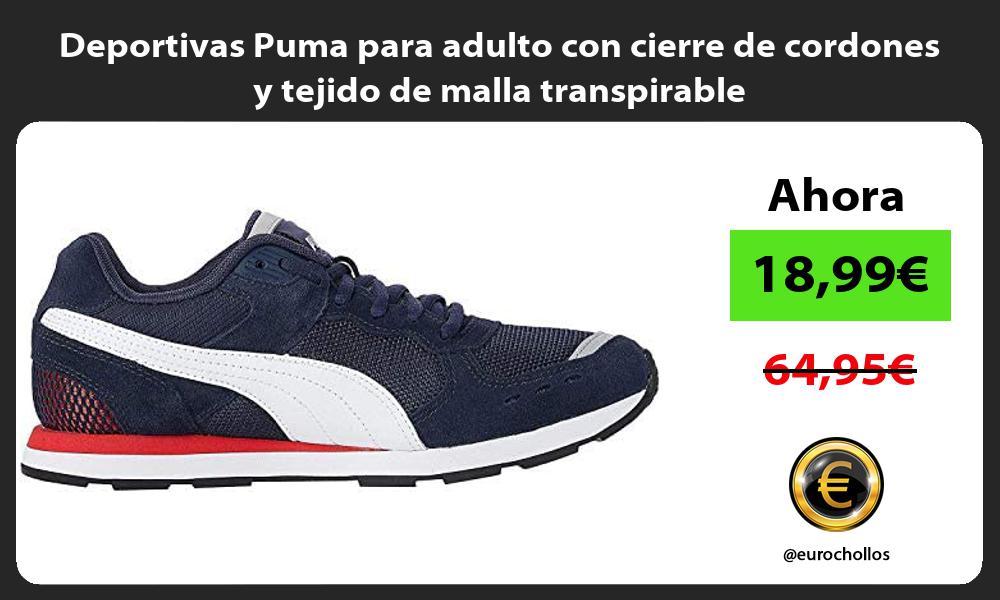 Deportivas Puma para adulto con cierre de cordones y tejido de malla transpirable