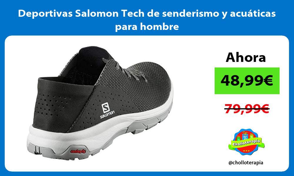Deportivas Salomon Tech de senderismo y acuáticas para hombre