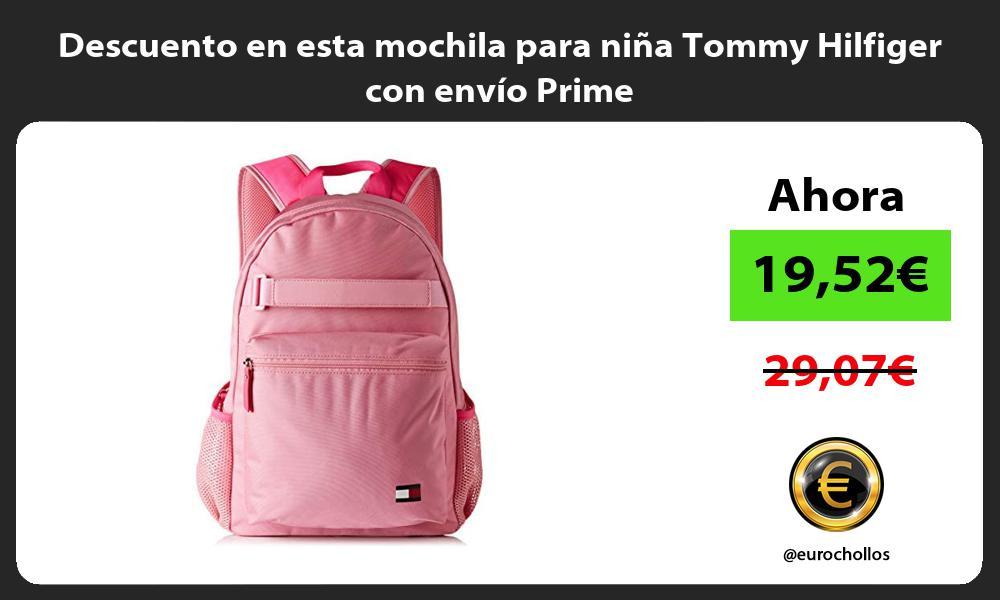 Descuento en esta mochila para niña Tommy Hilfiger con envío Prime