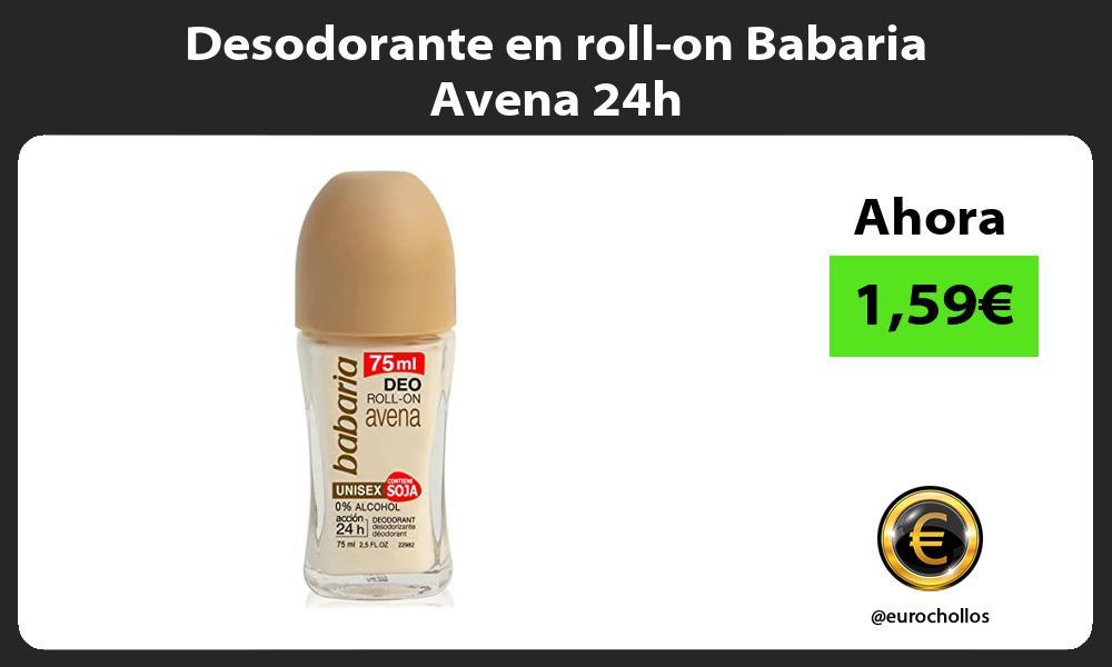 Desodorante en roll on Babaria Avena 24h