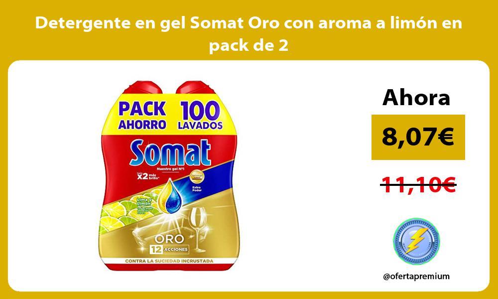 Detergente en gel Somat Oro con aroma a limón en pack de 2