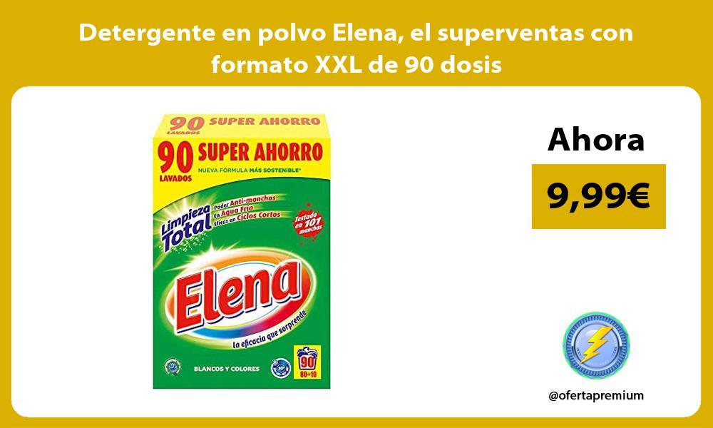 Detergente en polvo Elena el superventas con formato XXL de 90 dosis