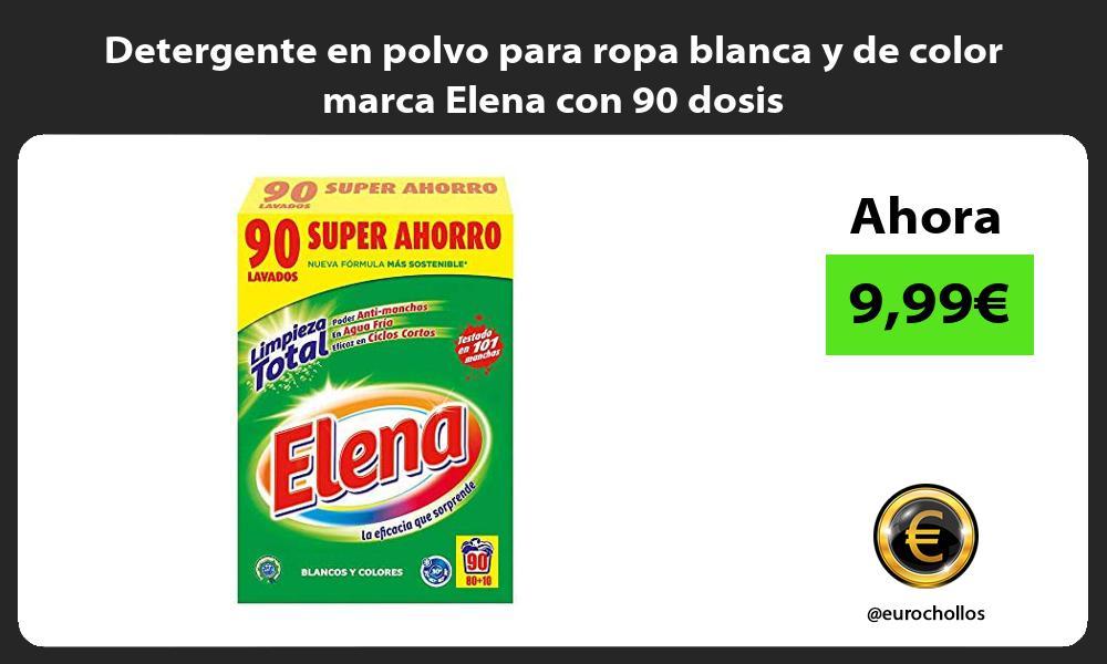 Detergente en polvo para ropa blanca y de color marca Elena con 90 dosis