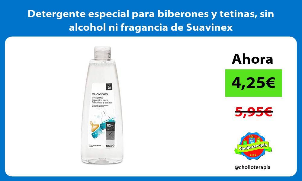 Detergente especial para biberones y tetinas sin alcohol ni fragancia de Suavinex