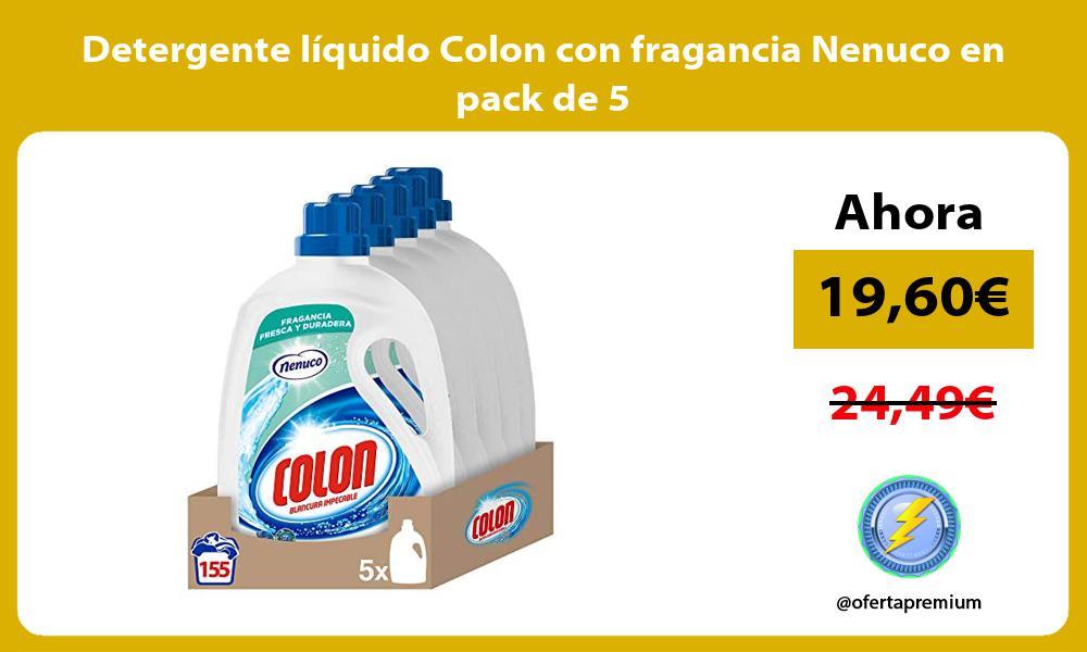 Detergente líquido Colon con fragancia Nenuco en pack de 5