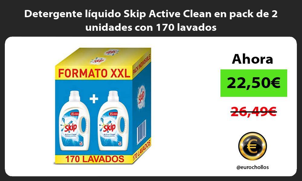 Detergente líquido Skip Active Clean en pack de 2 unidades con 170 lavados