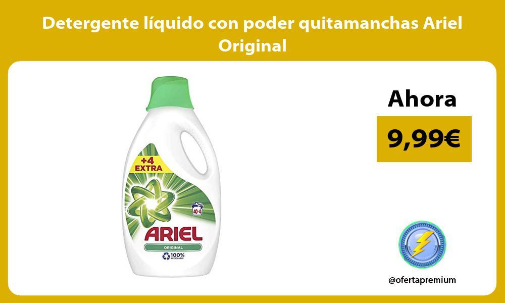 Detergente líquido con poder quitamanchas Ariel Original