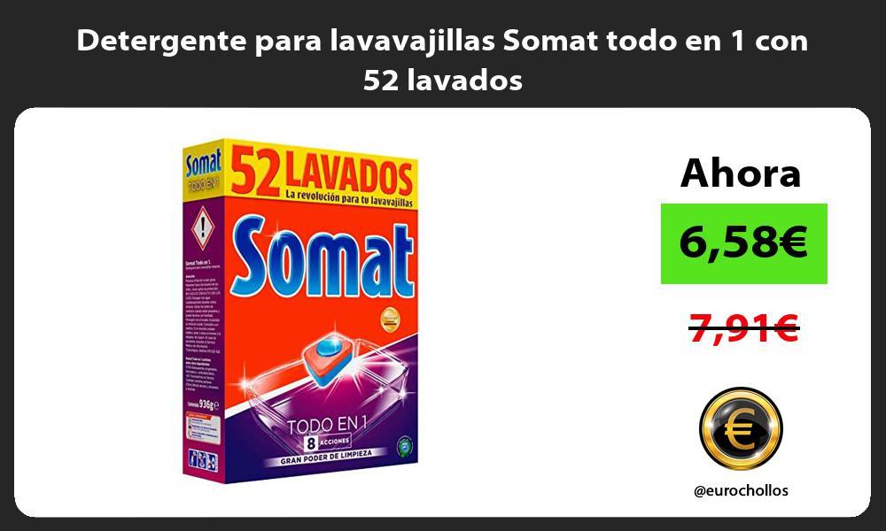 Detergente para lavavajillas Somat todo en 1 con 52 lavados