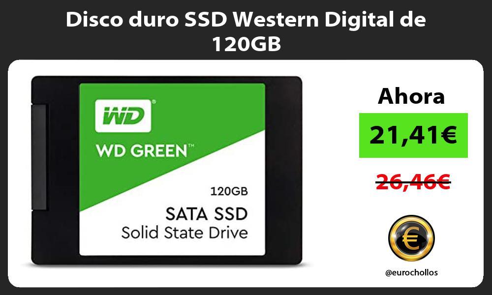 Disco duro SSD Western Digital de 120GB