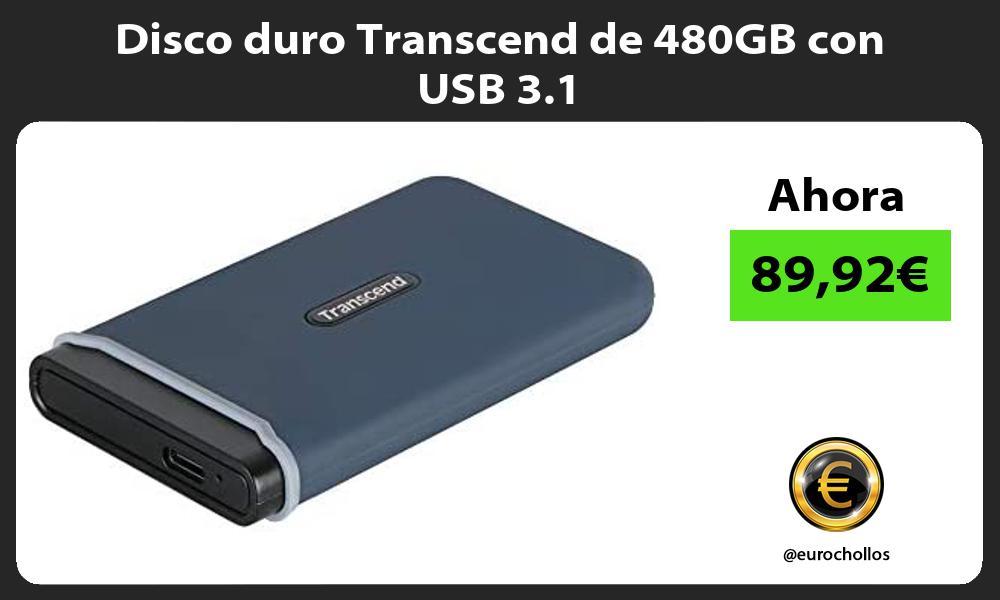 Disco duro Transcend de 480GB con USB 3 1