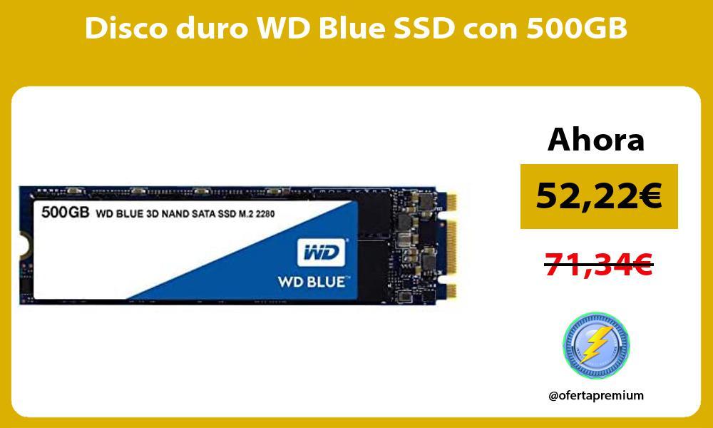 Disco duro WD Blue SSD con 500GB