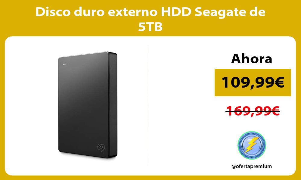 Disco duro externo HDD Seagate de 5TB