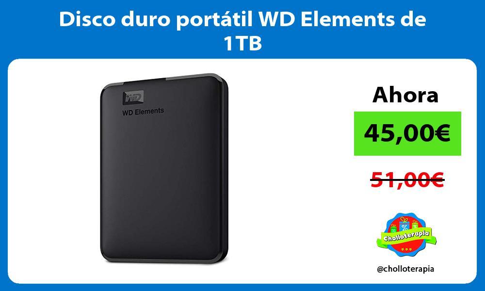 Disco duro portátil WD Elements de 1TB