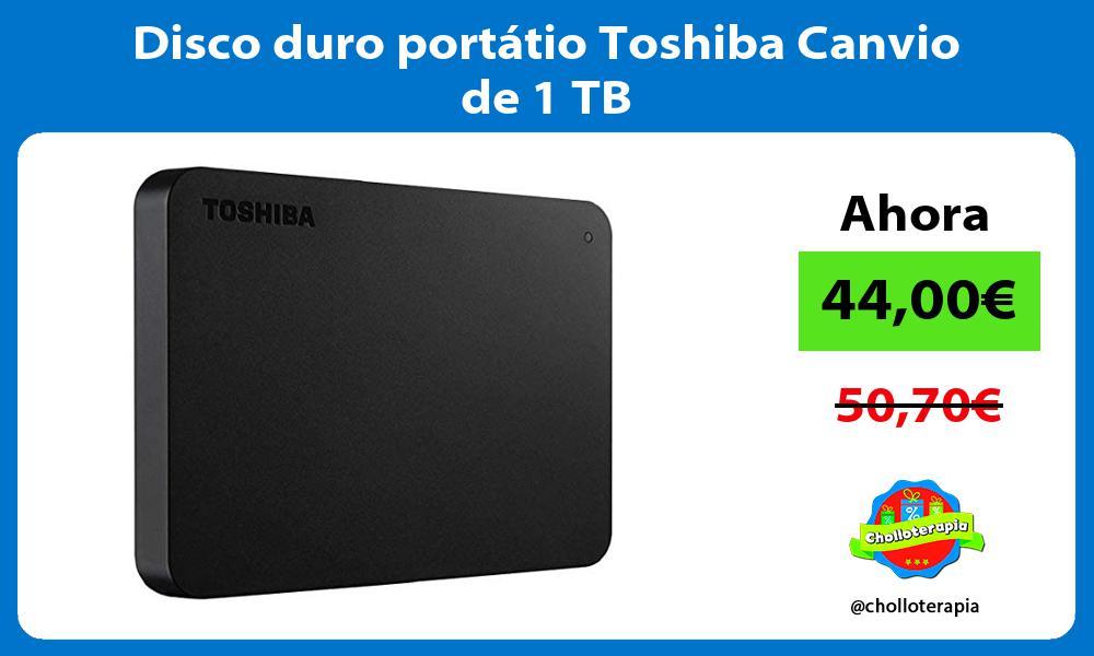 Disco duro portátio Toshiba Canvio de 1 TB