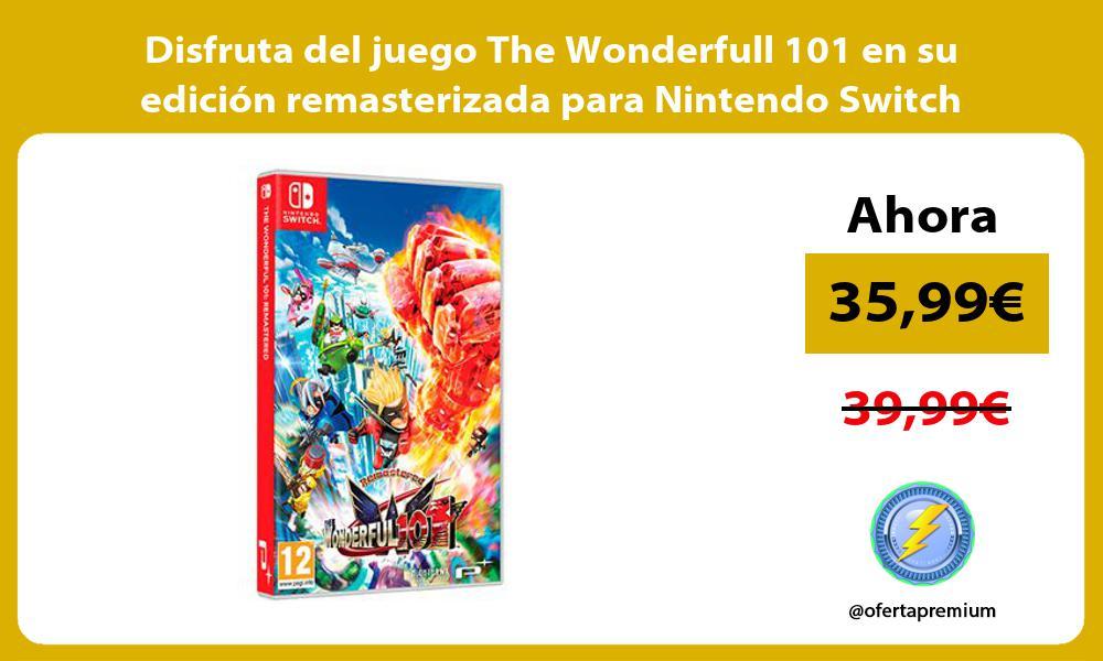 Disfruta del juego The Wonderfull 101 en su edición remasterizada para Nintendo Switch