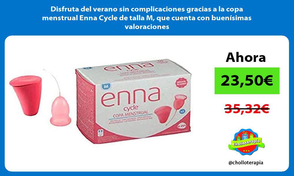 Disfruta del verano sin complicaciones gracias a la copa menstrual Enna Cycle de talla M que cuenta con buenísimas valoraciones
